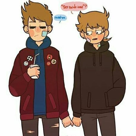 Teenage Tom and Tord ♡😍💙❤💙❤ [credit to the Artist] {#eddsworld