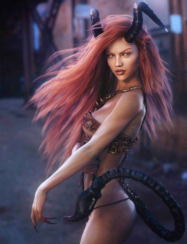 Pin By Var Silverseed On Devils Demons Fantasy Women Dark