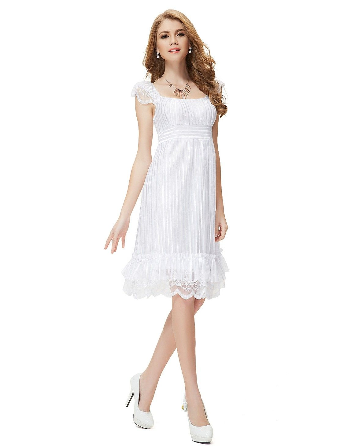 Schickes Top Cocktailkleid Weiß | Günstige Damenmode Online Kaufen ...