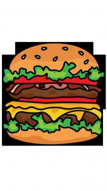 Les 25 meilleures idées de la catégorie Dessin de burger sur Pinterest   Dessin de hamburger ...