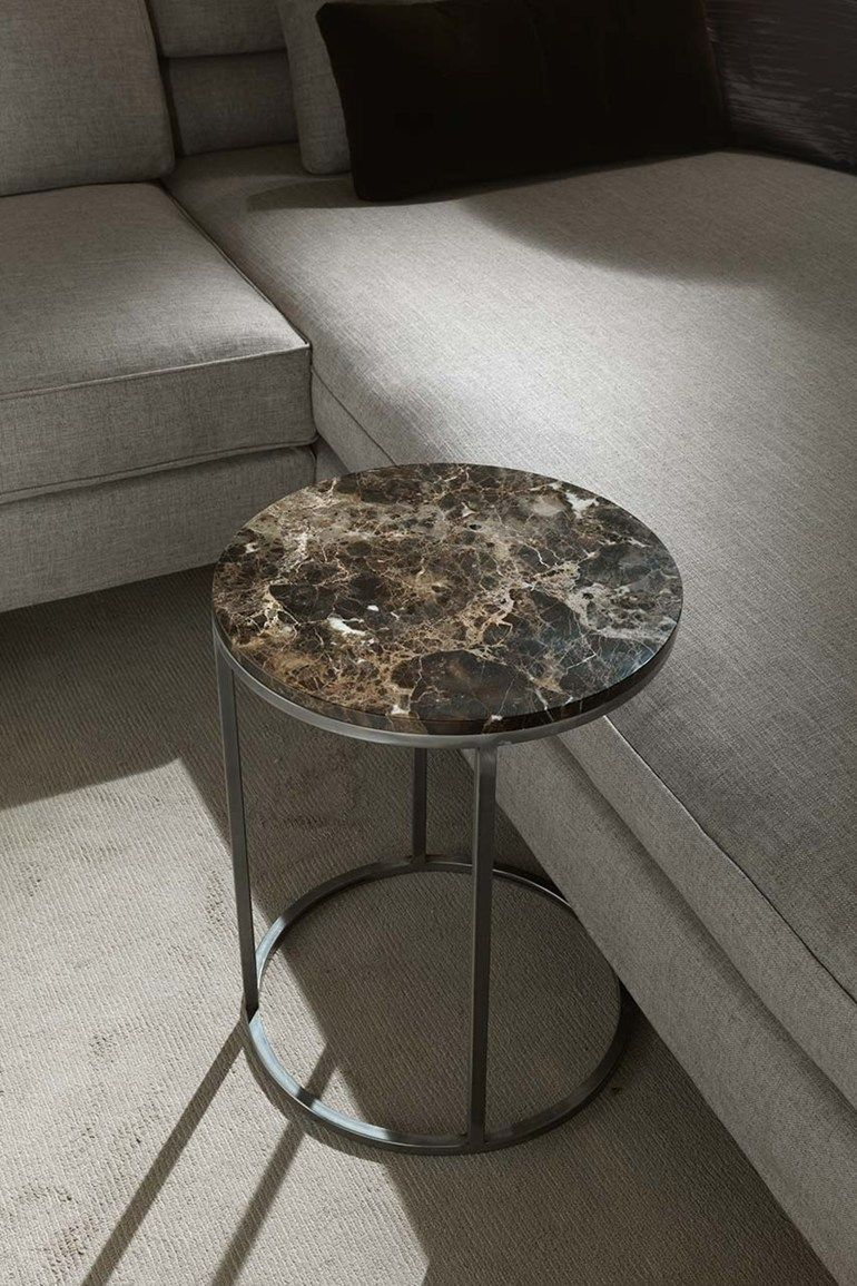 Round Marble Side Table Barry Coffee Frigerio Poltrone E Divani