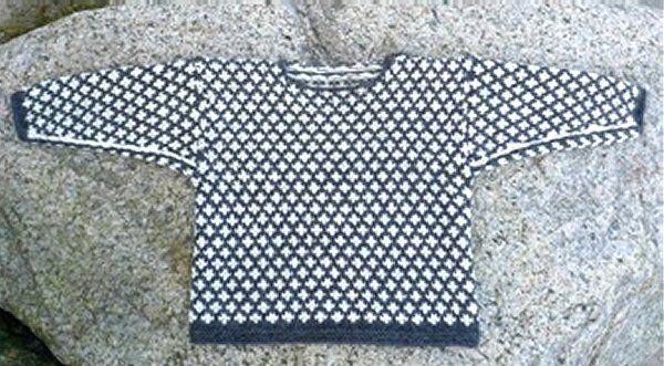 Færøsk Trøje II - strikkeopskrift - Sweatre - Englegarn