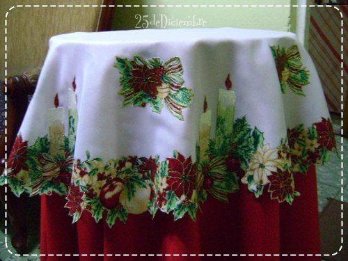 Manteles navide os con pintura en alto relieve navidad pinterest manteles navide os cenas - Manteles navidenos ...