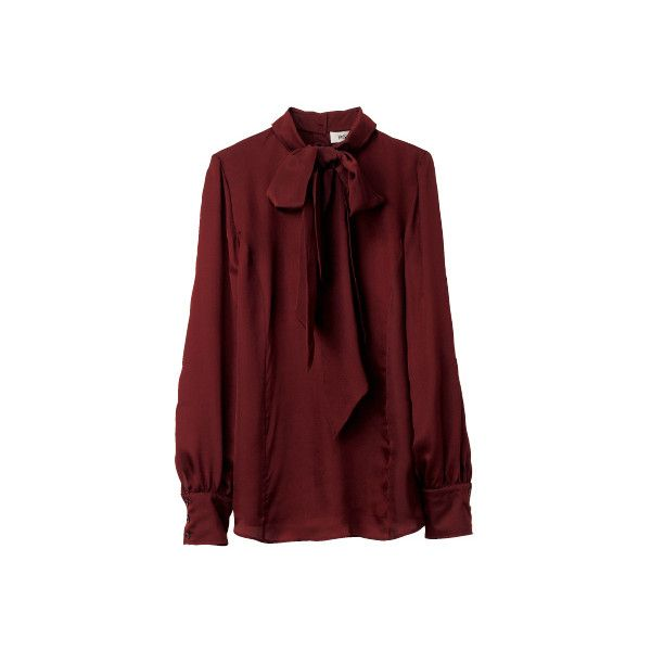Yves Saint Laurent (YVES SAINT LAURENT) - Blouse - Search fashion... ❤ liked on Polyvore featuring tops, blouses, shirts, red, red top, red blouse, yves saint laurent shirt, shirt blouse and shirt tops