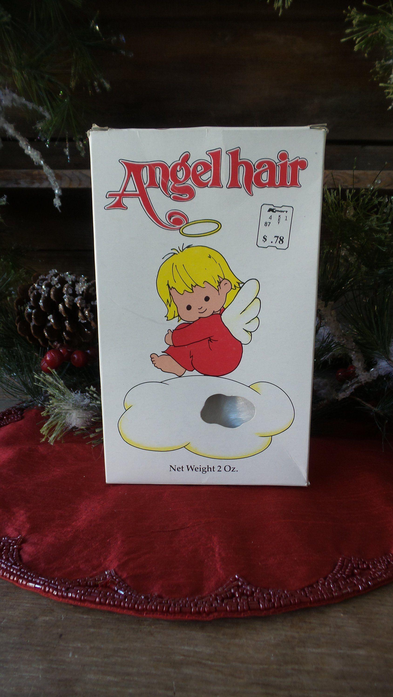 Vintage Box Of Angel Hair Angel Hair Ornament Spun Glass