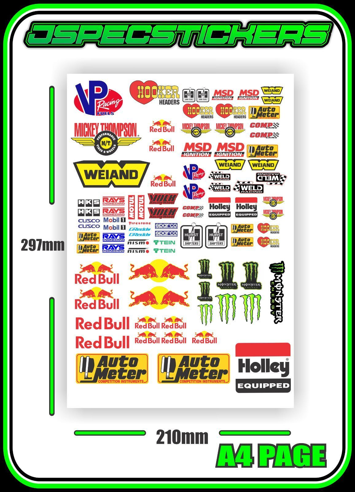 11 1 aud jdm slot car sticker sheet scalextric plafit 1 18 1 24
