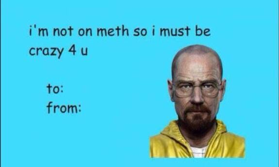 Breaking bad valentines card