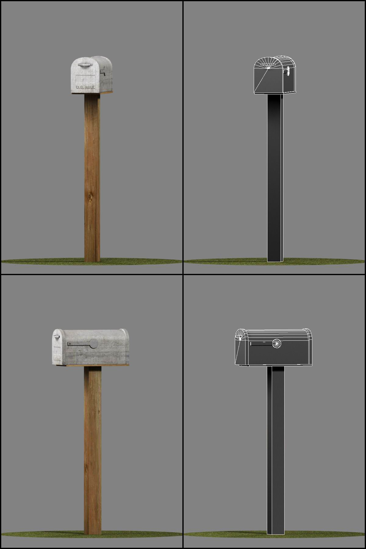 Us Mailboxes Pack Low Poly Us Mailbox Mailbox Unity Asset Store