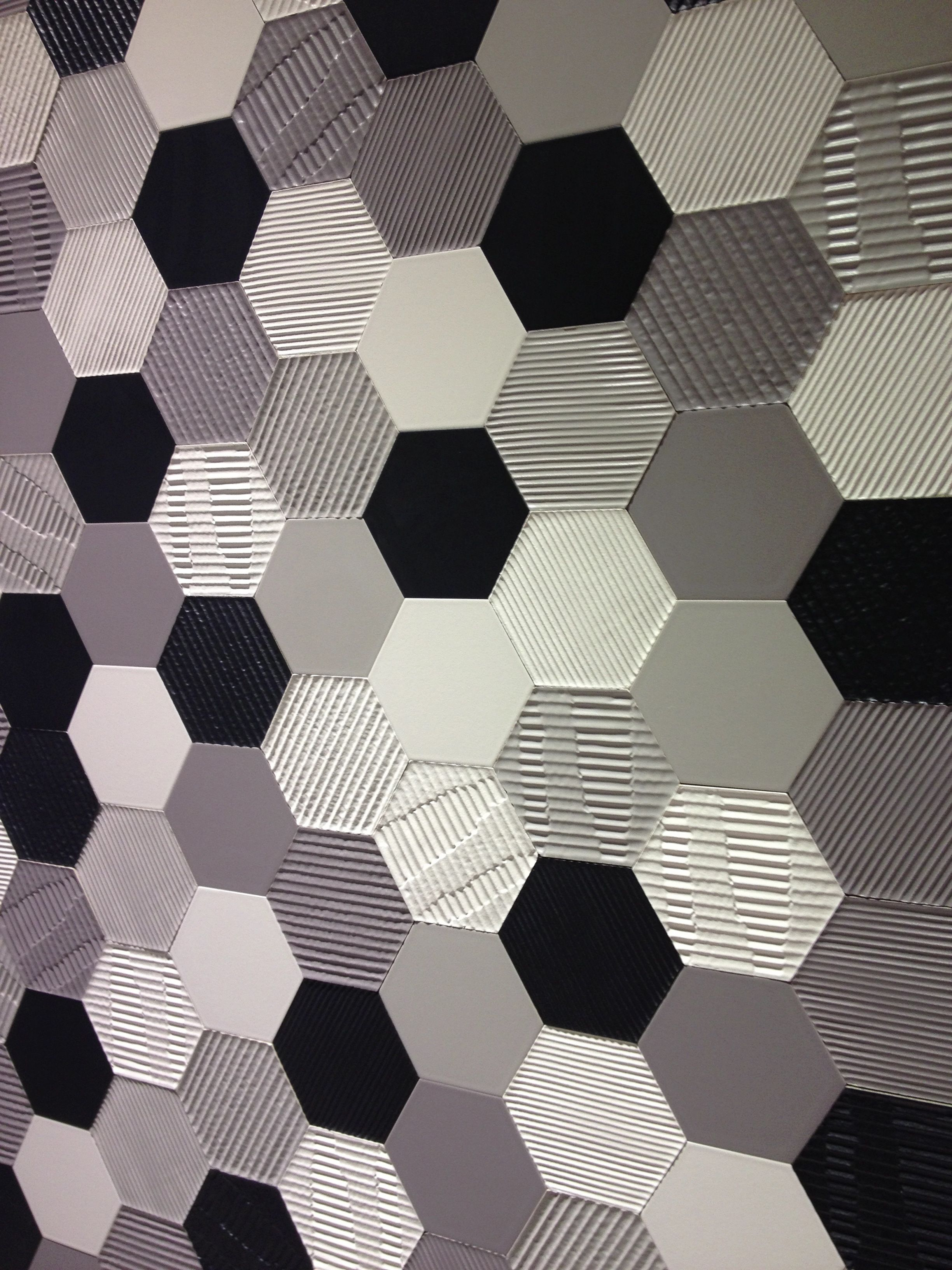 Settecentos matire tiles are available in a hexagon format a settecentos matire tiles are available in a hexagon format a range of textured surfaces dailygadgetfo Image collections