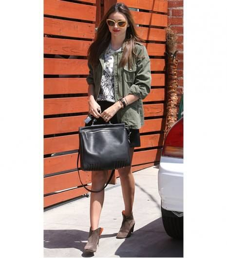 Check out Miranda Kerr sporting the new Phillip Lim Ryder Bag available at Hirshleifers!