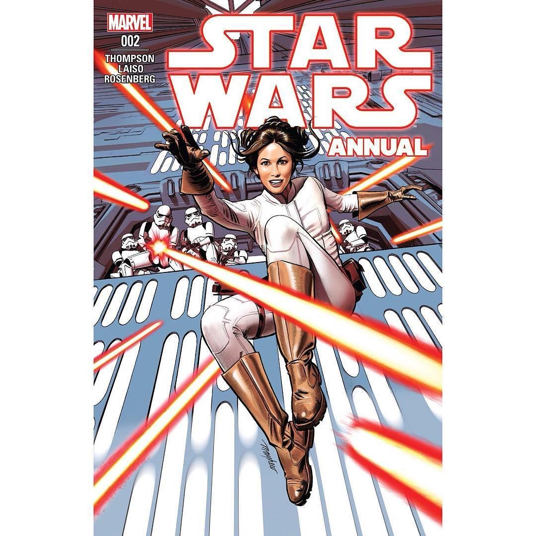 Star Wars (2015-) Annual #2 Written by Kelly Thompson Art by Emilio Laiso Cover by Mike Mayhew Princess Leia is on a top-secret dangerous mission that brings her to a planet that wants no part of the war against the Empire. But when an injury threatens to end her mission can she inspire that rebel spirit in those who just want to keep their heads down? Writer Kelly Thompson (A-FORCE) and artist Emilio Laiso (GODS OF WAR) bring us an all-new tale of Alderaan's last monarch in action!