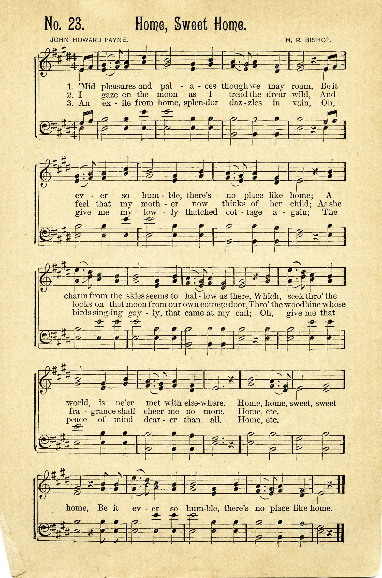 photo relating to Vintage Sheet Music Printable known as antique sheet audio Free of charge Traditional New music Sheet ~ House Adorable