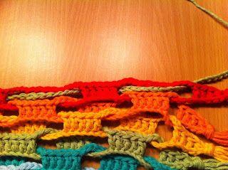 Metchens blog: Farverigt tørklæde