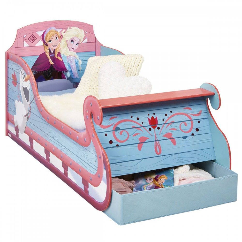 Disney frozen bedroom ideas - Wooden Frozen Bed Frozen Junior Sleigh Bed Great Kidsbedrooms The Children Bedroom