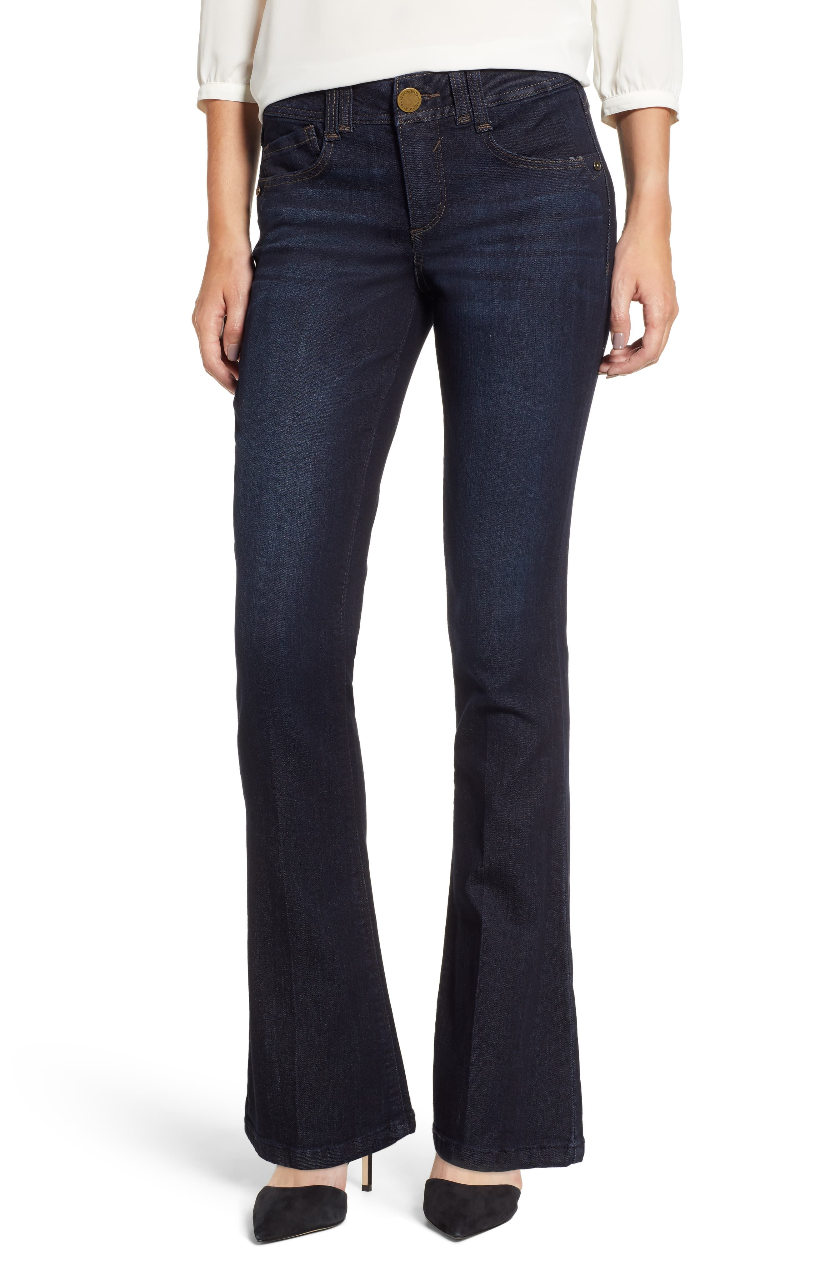 Petite Women S Wit Wisdom Ab Solution Itty Bitty Bootcut Jeans