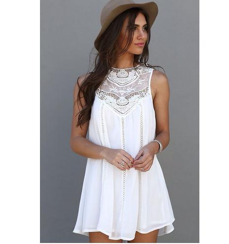 Women Sexy Summer Casual Sleeveless Long Tops Blouse Shirt Evening Party  Beach Dress Short Mini Dress