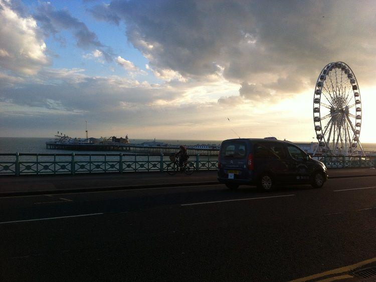 Brighton sunset! peonyandblue.com