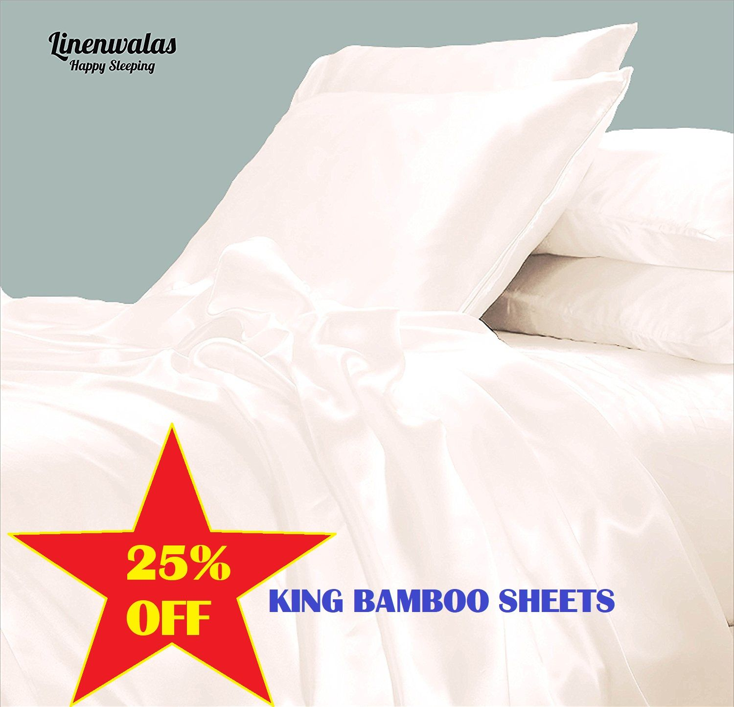 Get 25 Off On The Softest And Coolest Bamboo King Bed Sheets By Linenwalas