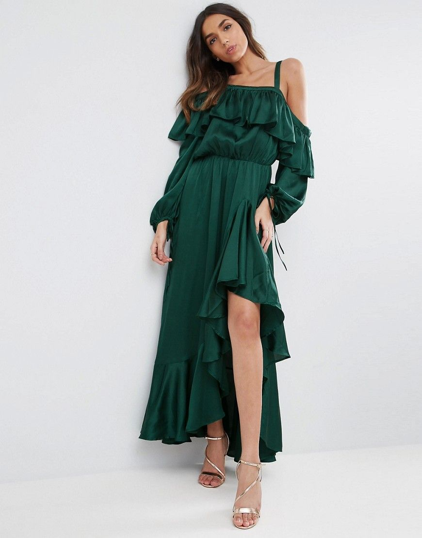 Greeen maxi dress for fall | Style | Pinterest | Maxikleider ...