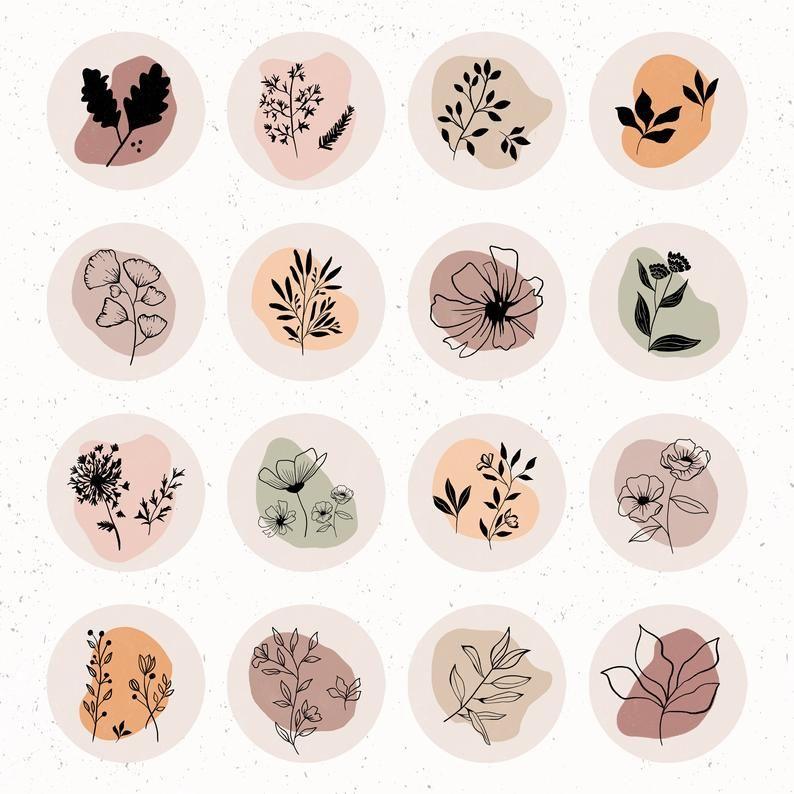 Botanicals Wildflowers   Instagram Highlight Cover