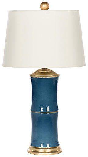 One Kings Lane Bradburn Home For Bamboo Style Table Lamp Blue White Blue Glass Lamp Table Lamp Lamp