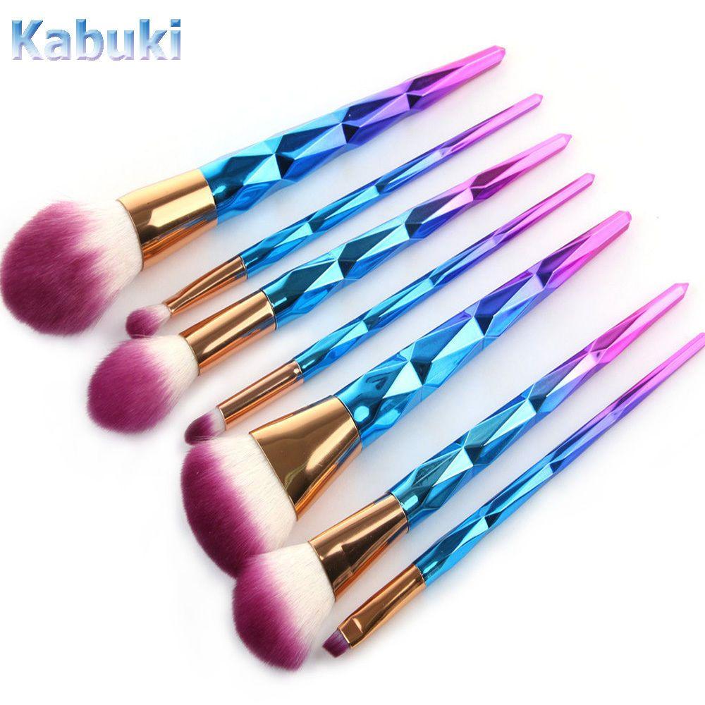 Details about 10PCS Kabuki Professional Make up Brush Set