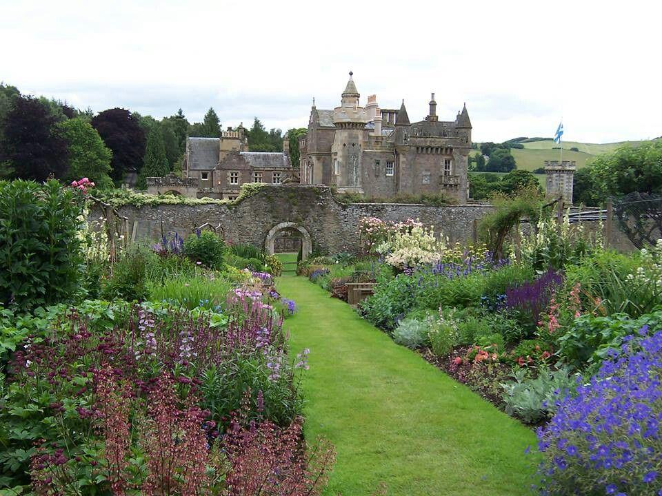 Castle in Scotland. Beautiful gardens