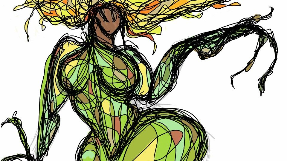 Earthy female form I drew on my phone.