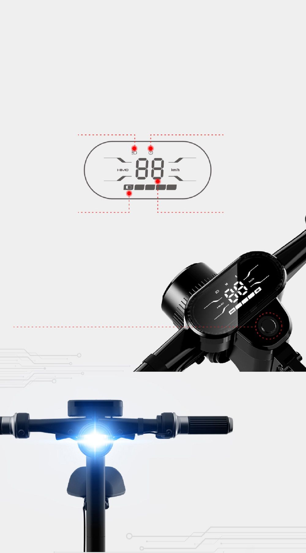 Xiaomi himo h portable folding two wheel electric bicycle km