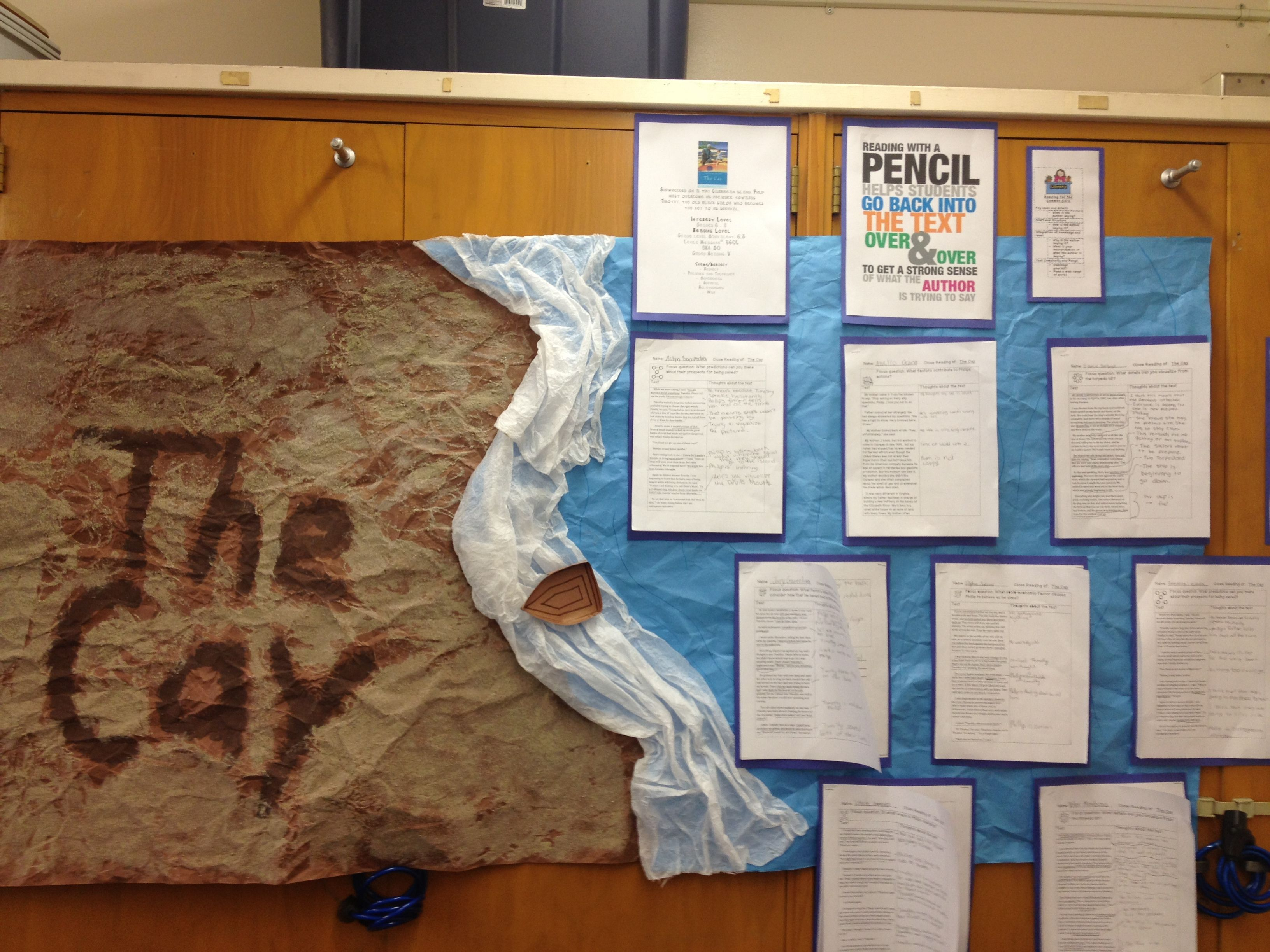 The Cay Bulletin Board For Close Reading