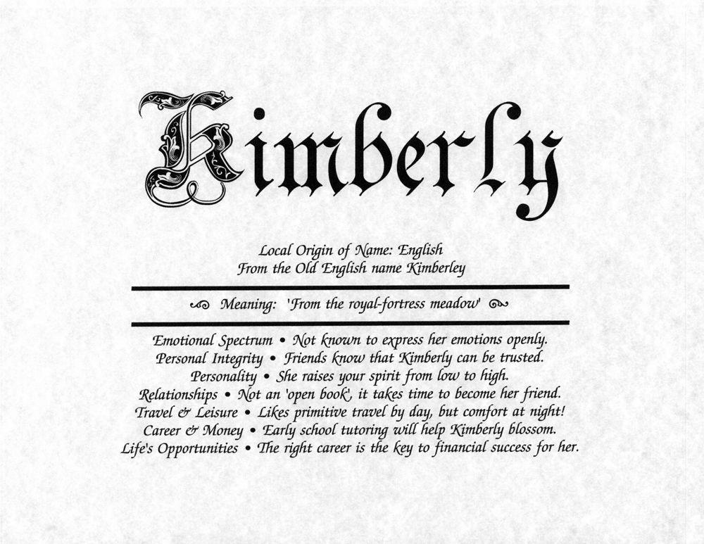 kimberly: ruler ....makes sense | Old english names, Names ...
