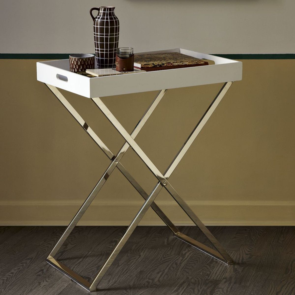 Stand with tray for the guest room