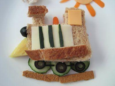 traveling food, a train!