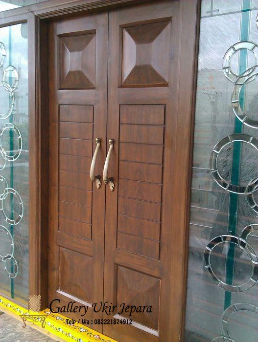 Pintu Rumah Minimalis Kayu Jati Harga Murah Merupakan Produksi Sendiri Dari Kami Pengrajin Mebel Jepara Yang Ahli Dibida Dekorasi Rumah Elegan Pintu Kayu Rumah