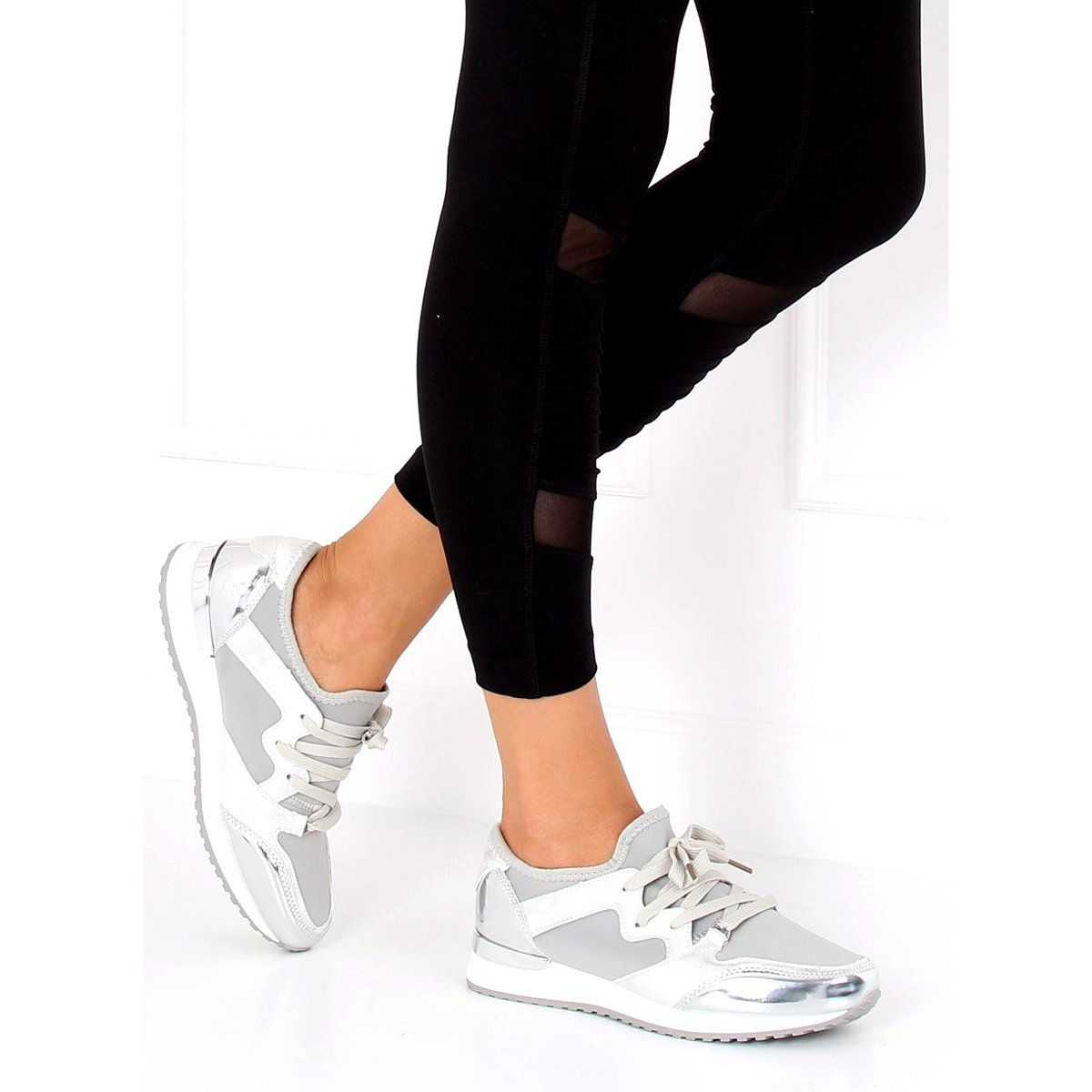 Silver 6241 Silver Sports Shoes Grey Shoes Sports Shoes Trainers Women