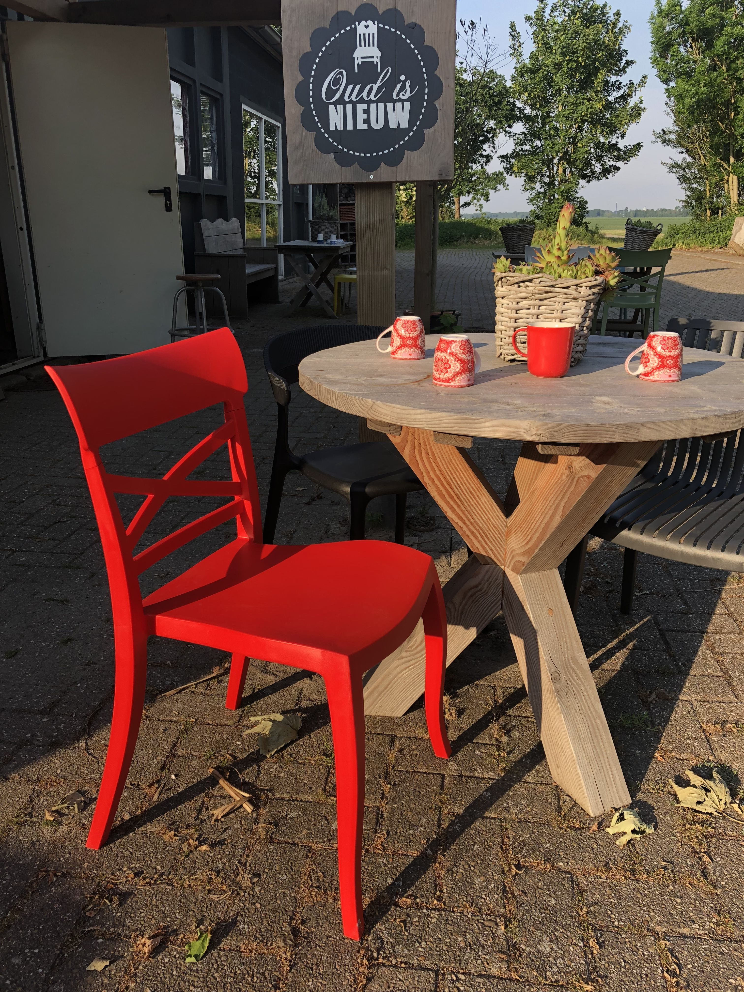 Trendy Tuinstoelen Klap Tuinstoelen Beautiful Stapelstoel Leknes Zwart With Klap