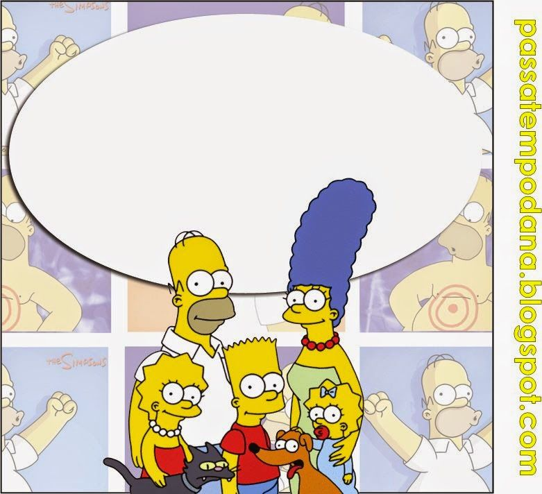 Los Simpson Invitaciones Tarjetas Toppers Y Stickers Para