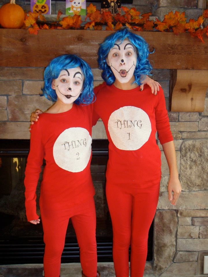 Homemade Thing 1 and Thing 2 Costumes.  3d1d3e926b