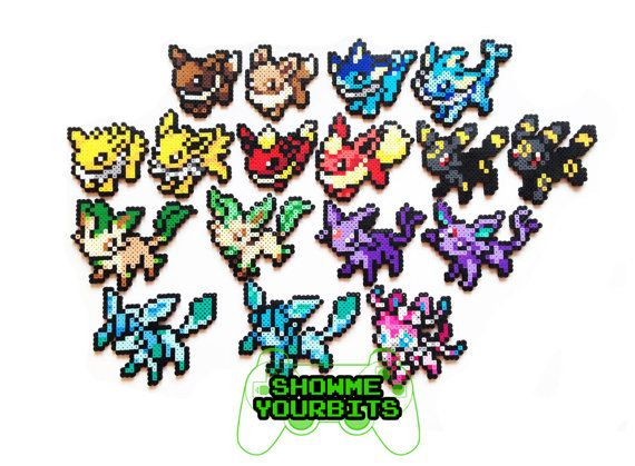 Pokemon Perler Eevee And Evolutions Old And New By