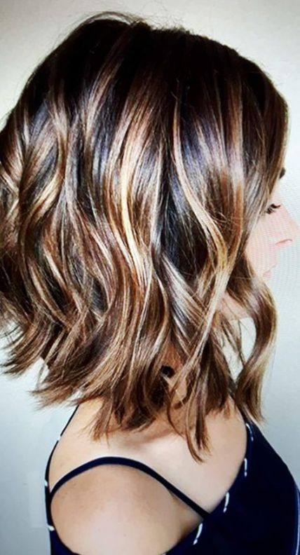 22+ Trendy hair color ideas for brunettes for fall shoulder length -  #brunettes #color #Fall... #fallhaircolorforbrunettes