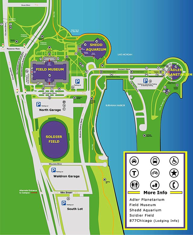 Stadium Maps | Chicago Bears, Solr Field, 1410 Museum Campus ... on