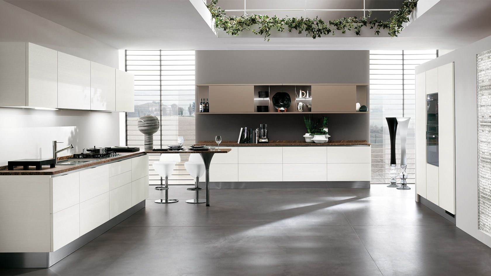 Contemporary kitchens for large and small spaces - Open Kitchen Space White Cabinets Contemporary Kitchens For Large And Small Modern Kitchen Furniture Sets Best Modern Kitchen