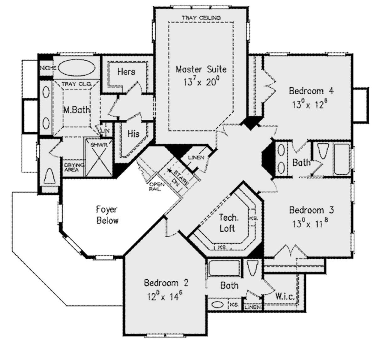 House Plan 8594 00184 European Plan 3 044 Square Feet 4 Bedrooms 3 5 Bathrooms European Plan Floor Plans House Plans