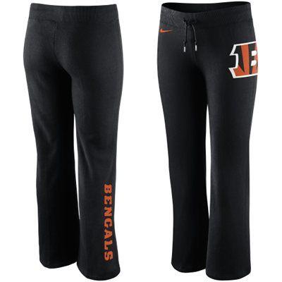 Nike Cincinnati Bengals Women s Tailgater Fleece Pants - Black ... f2ddd05c4a