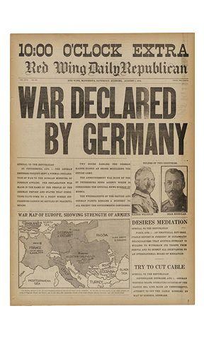 Historic Newspapers Historical Newspaper World War One World War I