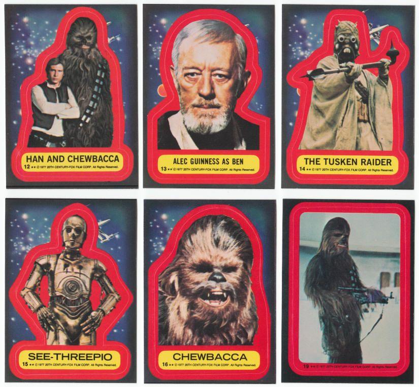 Star wars trading card series 2 sticker set 1977 topps
