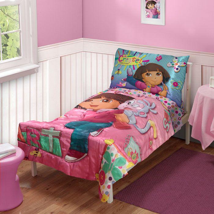 13 gorgeous dora the explorer toddler bed set photo ideas
