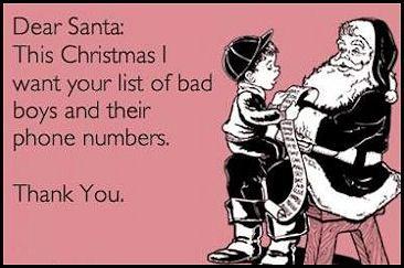 Dear Santa... :-) please and thank you