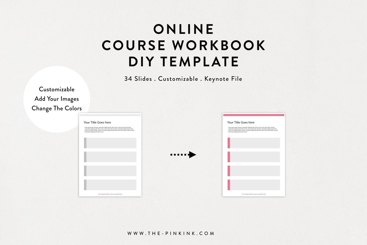 Online Course Workbook DIY Template (With images