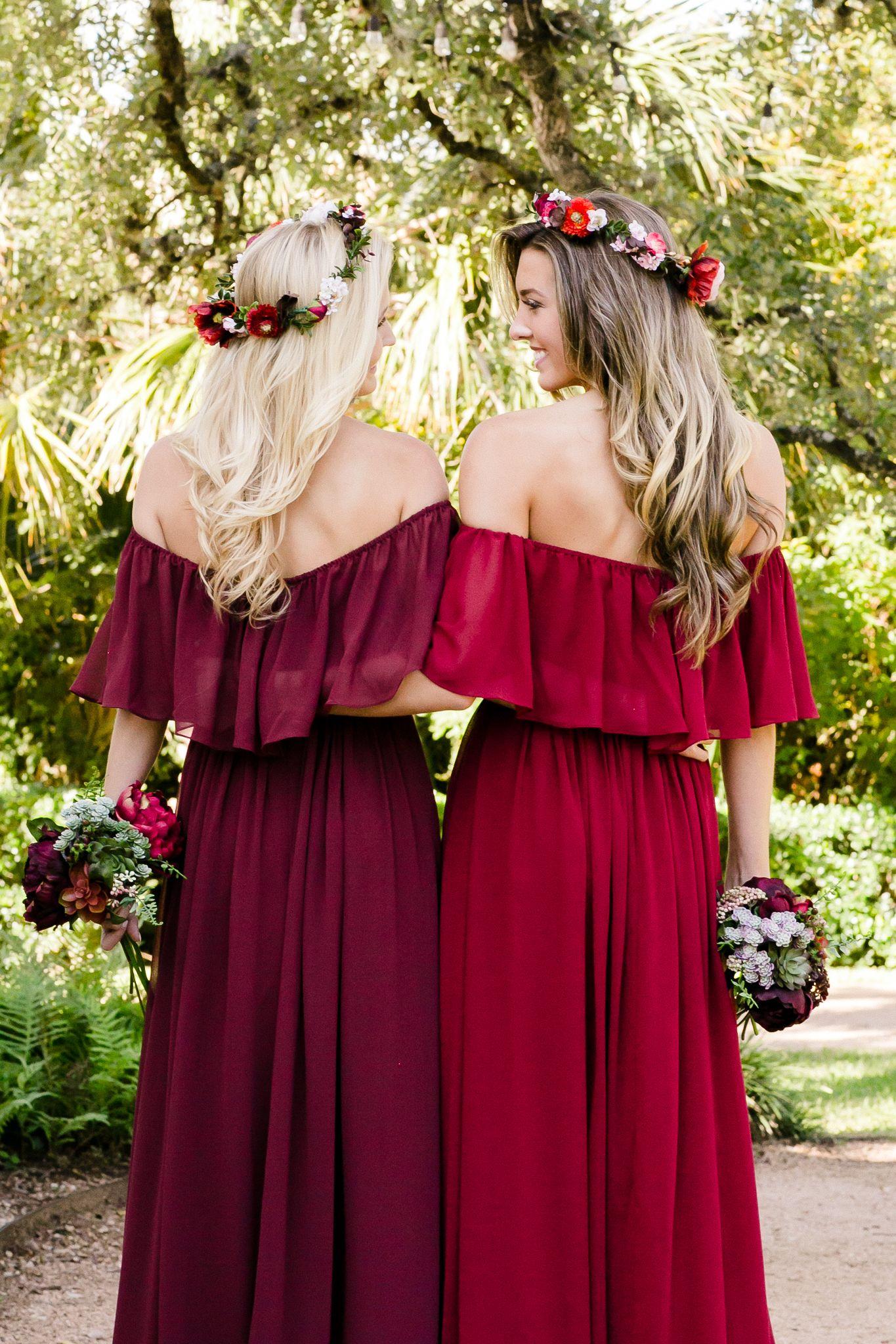 Bohemian Long Sleeves Bridesmaids Dresses Fall Bridesmaid Dresses Winter Bridesmaid Dresses Bohemian Bridesmaid Dress